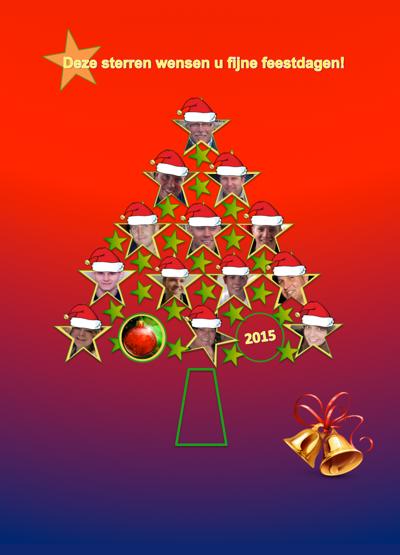Deze sterren wensen u fijne feestdagen!